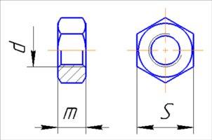 чертеж шпильки с резьбой dwg